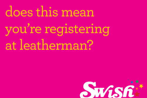 eCard: Registering as a Leatherman?